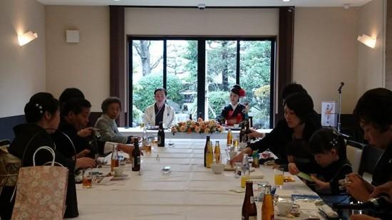 瑞龍寺前のやすらぎ庵は味もその和風庭園やバンケットルームも食事会にもってこいだ。