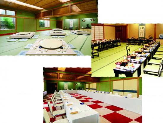 チューリップ四季彩館近くのふかまつは和室に洋室も完備した大型料亭
